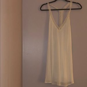 White sun dress from lulus